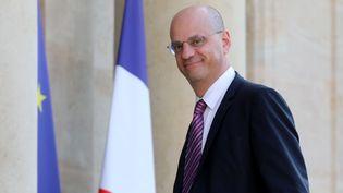 Jean-Michel Blanquer, ministre de l'Education nationale, lors de son arrivée à l'Elysée pour un dîner de travail, le 27 juin 2018 à Paris. (LUDOVIC MARIN / AFP)
