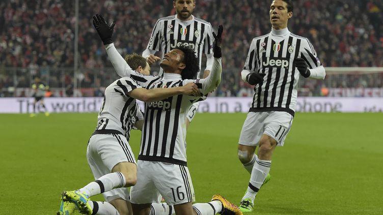 La joie des joueurs de la Juventus  (TOBIAS SCHWARZ / AFP)