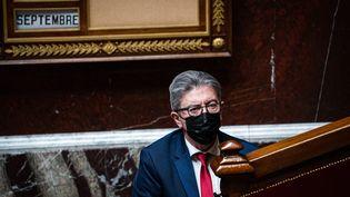 Jean-Luc Mélenchon à l'Assemblée nationale à Paris, le 9 septembre 2021. (XOSE BOUZAS / HANS LUCAS / AFP)
