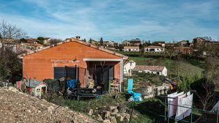 La maison de la famille Jubillar, àCagnac-les-Mines (Tarn), mardi 22 décembre 2020. (FRED SCHEIBER / AFP)