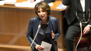Marisol Touraine, la ministre des Affaires sociales et de la santé, à l'Assemblée nationale, à Paris, le 23 novembre 2016. (YANN BOHAC / CITIZENSIDE / AFP)