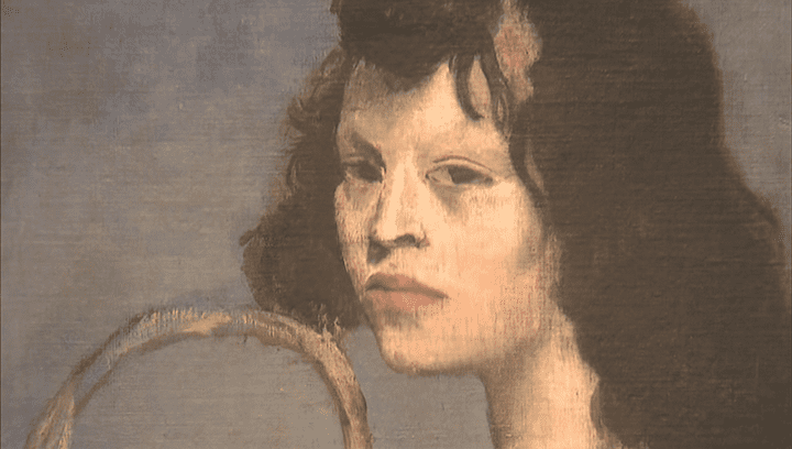 """""""Jeune fille à la corbeille fleurie"""" (détail) PabloPicasso  (France 2 / Culturebox / Capture d'écran)"""