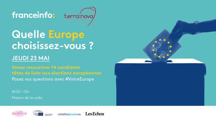 """""""Quelle Europe choissez-vous ?"""", le jeudi 23 mai à la Maison de la Radio. (FRANCEINFO / RADIOFRANCE)"""