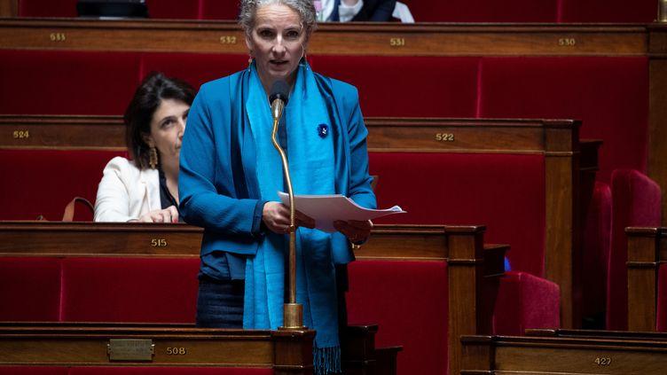 La députée écologiste Delphine Batho à l'Assemblée nationale, à Paris, le 8 mai 2020. (THOMAS SAMSON / AFP)