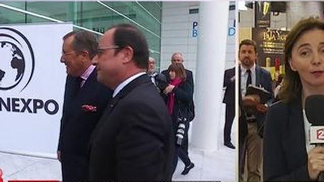 Loi Evin : François Hollande en visite au salon Vinexpo de Bordeaux