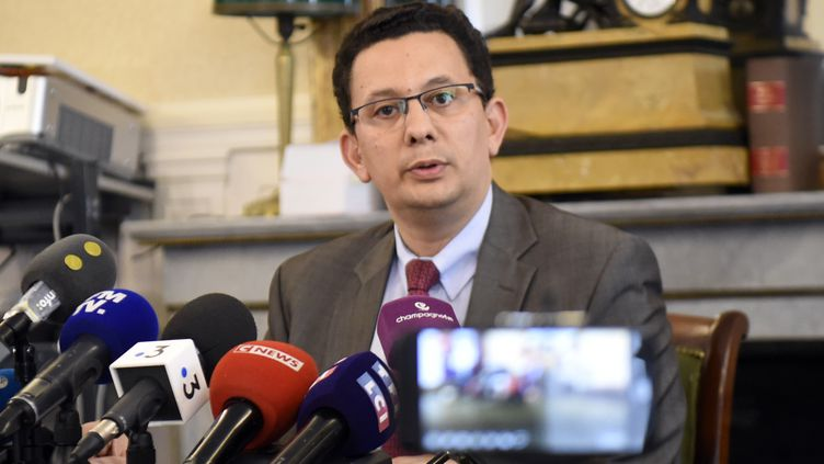 Le procureur de la République de Reims (Marne), Matthieu Bourrette, le 11 juillet 2019. (FRANCOIS LO PRESTI / AFP)