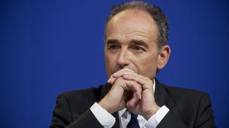 Le président démissionnaire de l'UMP, Jean-François Copé, lors d'un meeting à Paris, le 21 mai 2014. (MAXPPP)