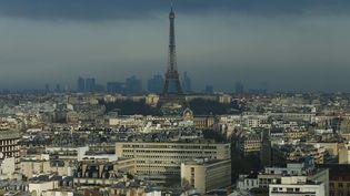La tour Eiffel domine Paris le 17 février 2016. (THOMAS SAMSON / AFP)