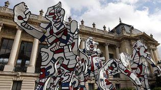 """""""Welcome Parade"""" par Jean Dubuffet, devant le Petit Palais à Paris, octobre 2013  (FRANCOIS GUILLOT / AFP)"""