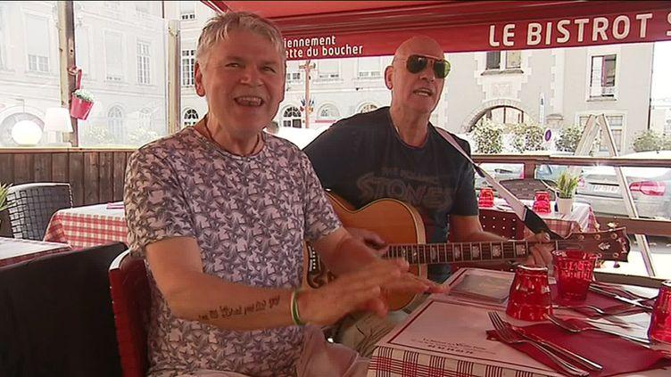 John Richardson et Mick Clarke (A. Roynier /France Télévisions)