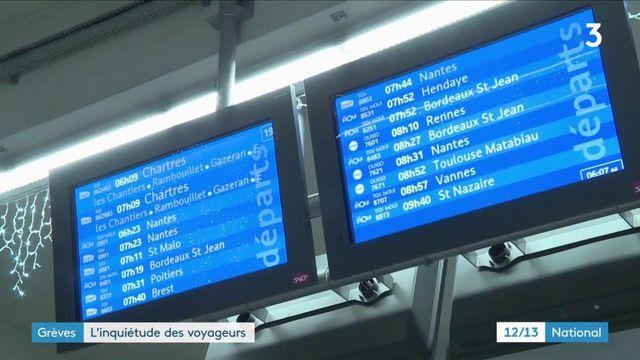 Grèves de la SNCF : l'inquiétude des voyageurs