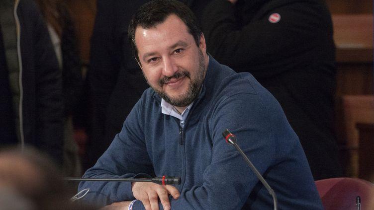 Le ministre de l'Intérieur Matteo Salvini, à Pescara (Italie), le 7 février 2019. (LUCA PRIZIA / AFP)