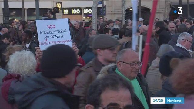 Manifestations contre l'antisémitisme : ils se sont rassemblés pour dire non