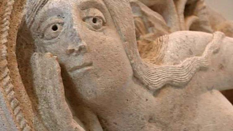 La tentation d'Eve de Gislebertus, un des joyaux du musée Rolin d'Autun.  (France 3 / Culturebox)