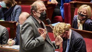 Le ministre de la Justice, Eric Dupond-Moretti, le 5 mai 2021 à l'Assemblée Nationale. (ANTONIN BURAT / HANS LUCAS / AFP)