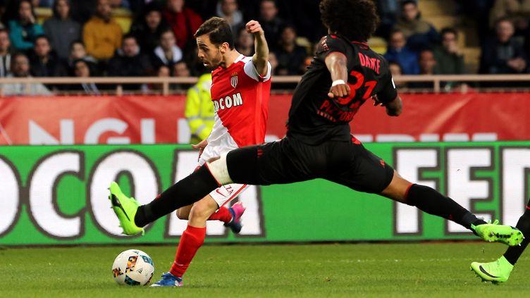 Monaco, à l'image de Bernardo Silva, a dominé les débats face à Nice (JEAN FRAN?OIS OTTONELLO / MAXPPP)