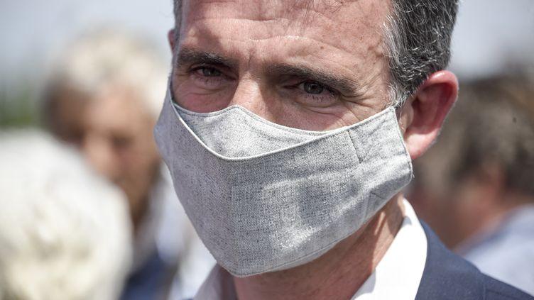 Le maire écologiste de Grenoble, Eric Piolle, le 29 mai 2021. (SEBASTIEN SALOM-GOMIS / AFP)