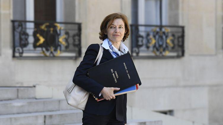La ministre des Armées Florence Parly quitte l'Elysée, à Paris, le 27 avril 2018. (AVENIR PICTURES / CROWDSPARK / AFP)