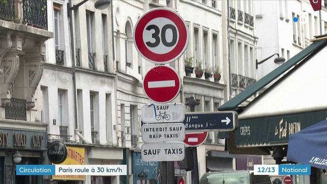Circulation : vitesse limitée à 30km/h dans Paris