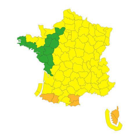 Six départements ont été placés en vigilance orange par Météo France, vendredi 25 septembre 2020. (METEO FRANCE)