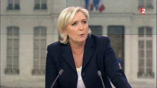 """Marine Le Pendans """"L'Entretien décisif"""" sur France 2, le 1er mai 2017. (FRANCE 2)"""