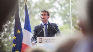 (Valls était l'invité du Medef pour l'université d'été de l'organisation © MAXPPP)