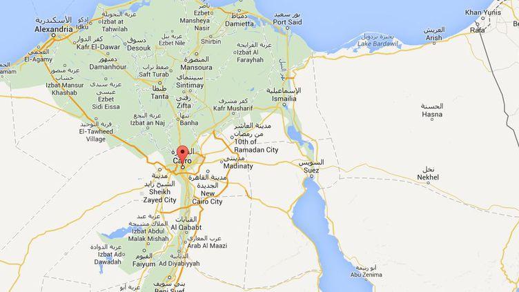 Cinq attentats à la bombe ont eu lieu au Caire (Egypte), le 26 février 2015. ( GOOGLE MAPS)