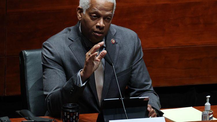Le représentant démocrate de Géorgie Hank Johnson, le 28 juillet 2020 au Capitole, à Washington (Etats-Unis). (CHIP SOMODEVILLA / GETTY IMAGES NORTH AMERICA / AFP)