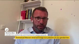 David Le Bars, syndicat des commissaires de la police nationale, le 14 juin 2020. (FRANCEINFO / RADIO FRANCE)