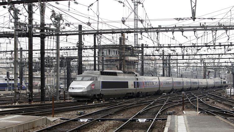 Un TGV arrive en gare de Lyon, à Paris, le 11 décembre 2011. ( MAXPPP)