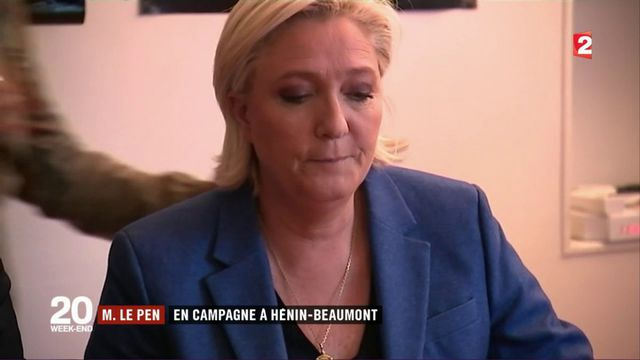 Marine Le Pen en campagne à Hénin-Beaumont