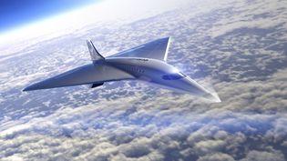 Illustration de la conception du vaisseau commercial de la compagnie de tourisme spatialVirgin Galactic. (HANDOUT / VIRGIN GALACTIC/THE SPACESHIP CO)