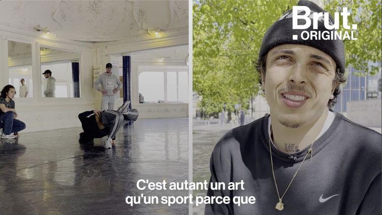 """VIDEO. """"J'ai appris à danser dans les gares, les cages d'escalier"""", raconte Omar, breaker (BRUT)"""