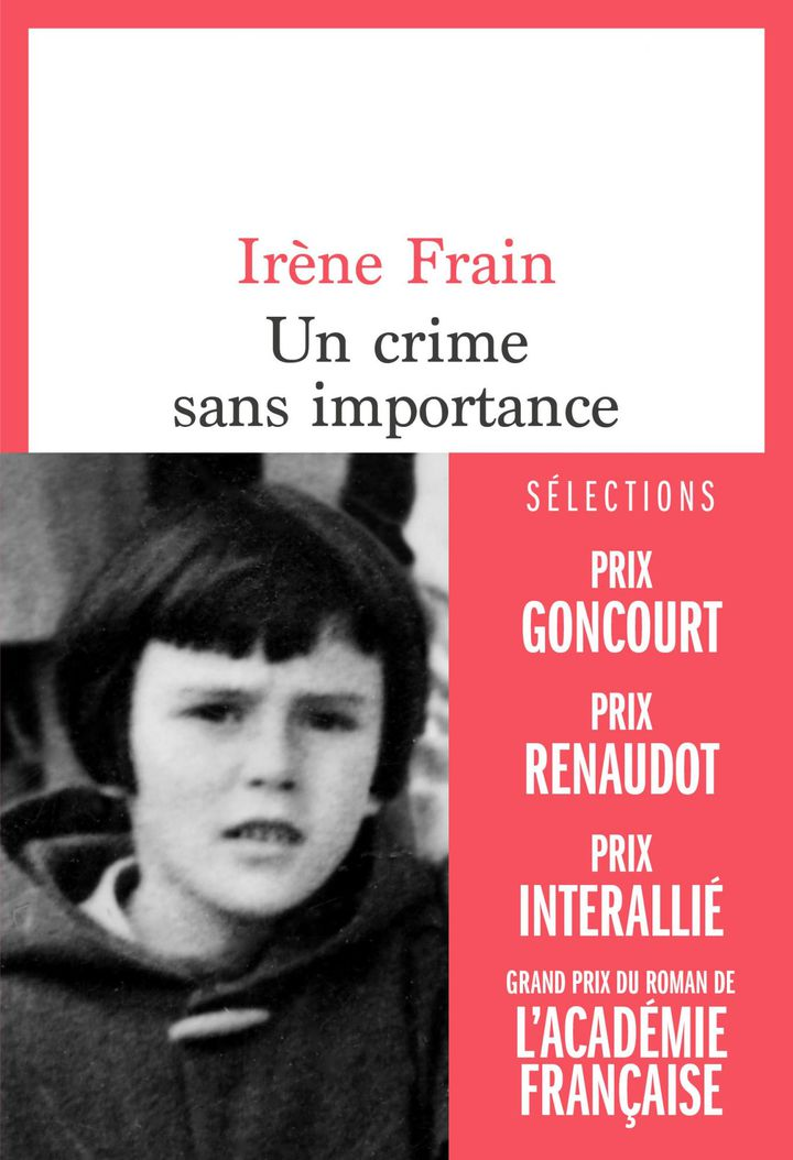 """Couverture de """"Un crime sans importance"""", d'Irène Frain, août 2020 (Editions du Seuil)"""