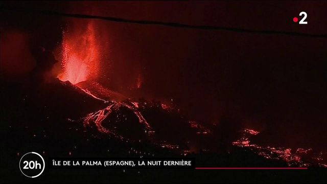 Espagne : un volcan de l'île de La Palma, aux Canaries, est entré en éruption après 50 ans d'inactivité