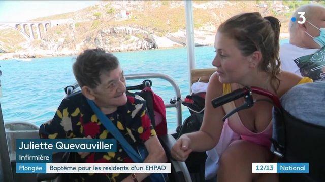 Bouches-du-Rhône : baptême de plongée pour les résidents d'un Ehpad