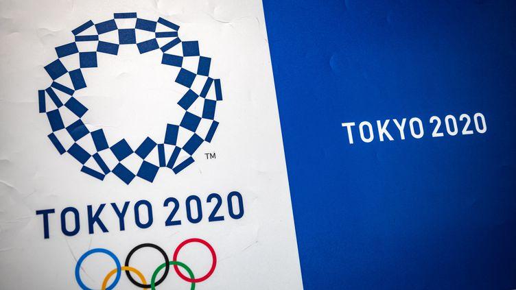 Le logo des Jeux Olympiques de Tokyo 2020. (PHILIP FONG / AFP)