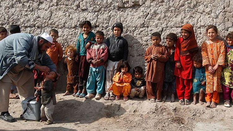 Des enfants sont vaccinés contre la poliomyélite à Jalalabad, dans l'est de l'Afghanistan, le 11 février 2013.  (Reuters Parwiz Parwiz)