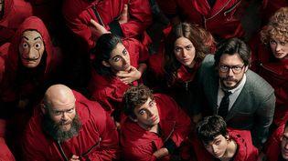 """Les personnages principaux de la série espagnole """"La Casa de papel"""", série la plus vue en France en 2020 sur les plateformes de vidéos. (NETFLIX)"""