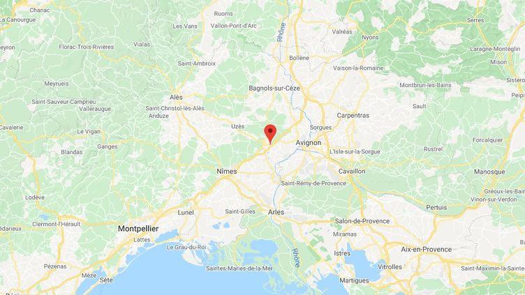 Les deux personnes ont été interpellées sur l'autoroute A9, au niveau du péage de Remoulins, à 20 kilomètres d'Avignon. (GOOGLE MAPS (CAPTURE D'ÉCRAN))