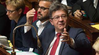 Jean-Luc Mélenchon à l'Assemblée nationale, le 10 octobre 2017 (JACQUES WITT / SIPA)