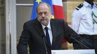 Le nouveau ministre de la Justice Eric Dupond-Moretti lors de sa prise de fonction, mardi 7 juillet 2020 à Paris. (BERTRAND GUAY / AFP)