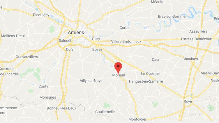 Moreuil (Somme). (CAPTURE D'ÉCRAN)