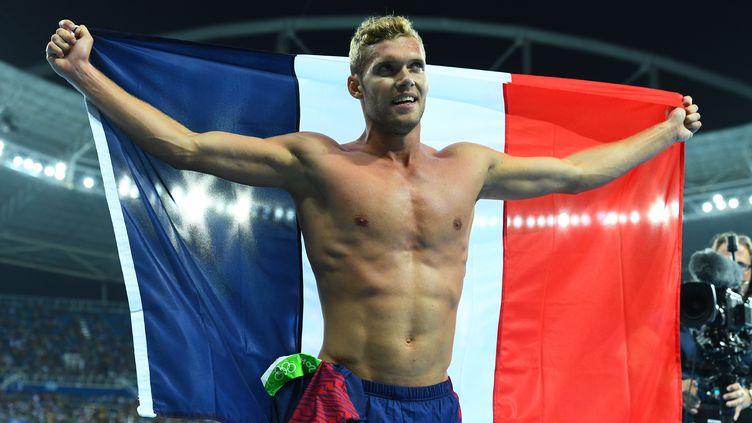 Le Français Kévin Mayer, le 18 août 2016 aux Jeux olympiques de Rio. (JEWEL SAMAD / AFP)