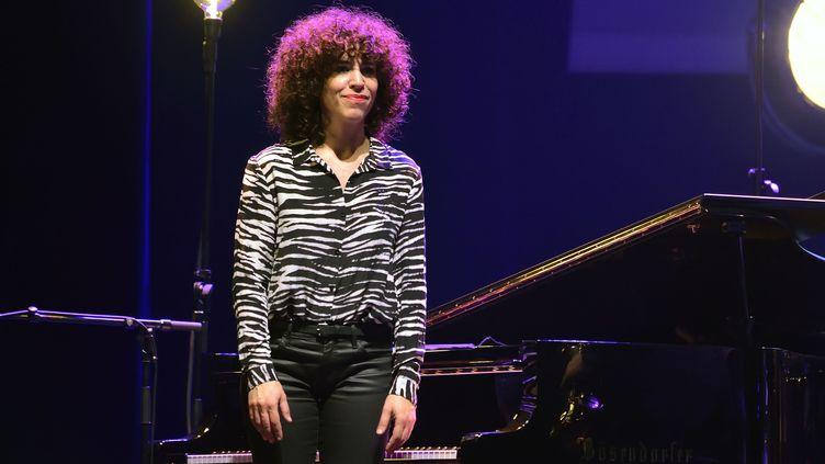 La pianiste Macha Gharibian le 12 décembre 2016 à l'Olympia, à Paris, à l'occasion d'un concert You & the Night & the Music organisé par la radio TSF Jazz. (SADAKA EDMOND / SIPA)