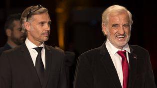 Paul et Jean-Paul Belmondo arrivant à la soirée d'ouverture de Lumière 2015  (Jean-François Lixon)
