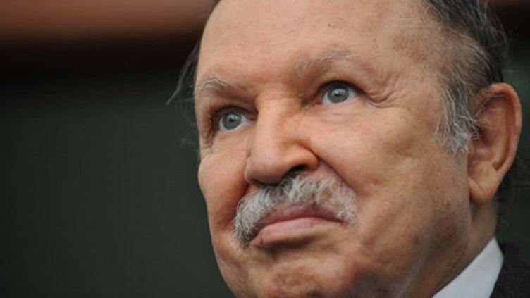 C'est la première fois que le président Bouteflika s'adressera aux Algériens depuis le début des révolutions arabes. (AFP PHOTO / FAYEZ NURELDINE)