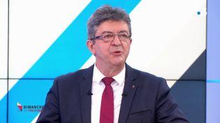 Le leader de La France Insoumise, Jean-Luc Mélenchon, invité de France 3, le 11 mars 2018. (FRANCE 3)