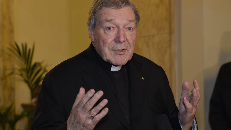 Le cardinal George Pell, à Rome (Italie), le 3 mars 2016. (ANDREAS SOLARO / AFP)