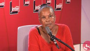 L'ancienne ministre de la Justice, Christiane Taubira, sur France Inter le 11 septembre 2020. (FRANCEINTER / RADIOFRANCE)